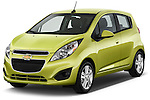 Front three quarter view of a .2013 Chevrolet Spark LS