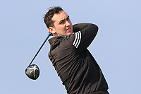 Colin Woodroofe (Dun Laoghaire) on the 1st tee during Round 3 of The West of Ireland Open Championship in Co. Sligo Golf Club, Rosses Point, Sligo on Saturday 6th April 2019.<br /> Picture:  Thos Caffrey / www.golffile.ie