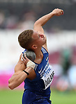 Janek ÕIGLANE (EST) in the mens decathlon shot put. IAAF world athletics championships. London Olympic stadium. Queen Elizabeth Olympic park. Stratford. London. UK. 11/08/2017. ~ MANDATORY CREDIT Garry Bowden/SIPPA - NO UNAUTHORISED USE - +44 7837 394578