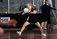 06.10.2013 Silver Fern Shannon Francois in action during the Silver Ferns training in Melbourne, Australia. Mandatory Photo Credit ©Michael Bradley.