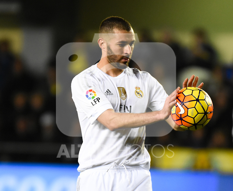Real Madrid's Benzema during La Liga match. December 13, 2015. (ALTERPHOTOS/Javier Comos)