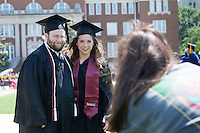 Graduate candids on Drill Field.<br />  (photo by Megan Bean / &copy; Mississippi State University)