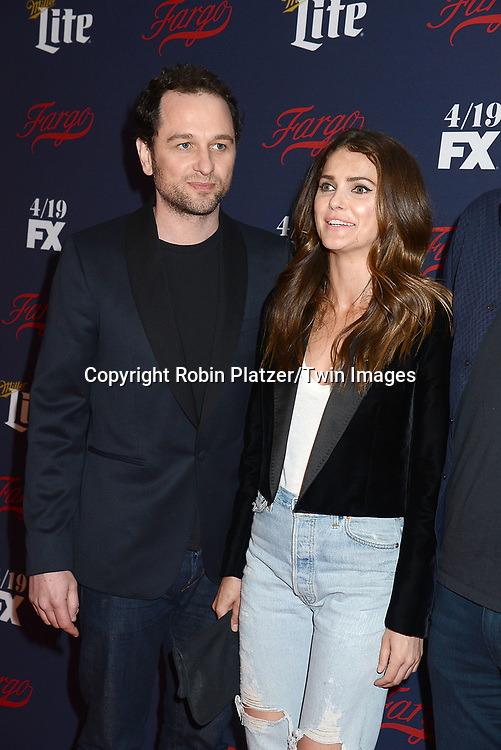 Matthew Rhys, Keri Russell and Noah Emmerich attend FX's 2017 All-Star Upfront on  April 6, 2017 at SVA Theater in New York, New York, USA. <br /> <br /> photo by Robin Platzer/Twin Images<br />  <br /> phone number 212-935-0770