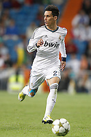 26.09.2012 SPAIN - Real Madrid and Millonarios played  for the 34th Santiago Bernabéu Trophy. The score at was 8-0 with three goals from Kaká, Morata (2), Callejon (2) and Benzema (1). The picture show Jose Maria Callejon (Spanish midfielder of Real Madrid)