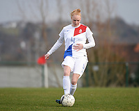 20140209 - TUBIZE , BELGIUM : Dutch Danique Kerkdijk pictured during a friendly soccer match between the Under 19 ( U19) women teams of Belgium and The Netherlands , Sunday 9 February 2014 in Tubize . PHOTO DAVID CATRY