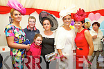 Sarah McAuliffe, Lou Stack, Karla Stack, Maria Stack, Tasha O'Connor and Mary Woulfe at Listowel Races Ladies Day on Sunday.