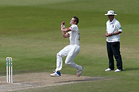 Joe Mennie in bowling action for Lancashire during Lancashire CCC vs Essex CCC, Specsavers County Championship Division 1 Cricket at Emirates Old Trafford on 11th June 2018