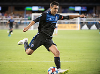 SAN JOSE, CA - AUGUST 25: Chris Wondolowski #8 of the San Jose Earthquakes during a game between Vancouver Whitecaps FC and San Jose Earthquakes at Avaya Stadium on August 24, 2019 in San Jose, California.