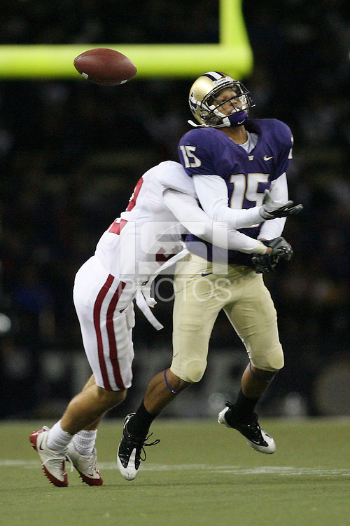 Stanford, CA - SEPTEMBER 27:  Safety Sean Wiser #32 of the Stanford Cardinal during Stanford's 35-28 win against the Washington Huskies on September 27, 2008 at Husky Stadium in Seattle, Washington.