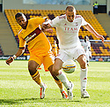 ABERDEEN'S ANDREW CONSIDINE HOLDS OFF MOTHERWELL'S CHRIS HUMPHREY