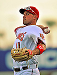 18 March 2009: Washington Nationals' third baseman Ryan Zimmerman warms up prior to a televised Spring Training game against the Florida Marlins at Space Coast Stadium in Viera, Florida. The Marlins defeated the Nationals 7-5 in the Grapefruit League matchup. Mandatory Photo Credit: Ed Wolfstein Photo