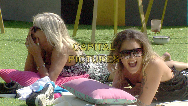 Celebrity Big Brother, Summer 2016, Day 21<br /> Samantha Fox and Katie Waissel.<br /> *Editorial Use Only*<br /> CAP/KFS<br /> Image supplied by Capital Pictures
