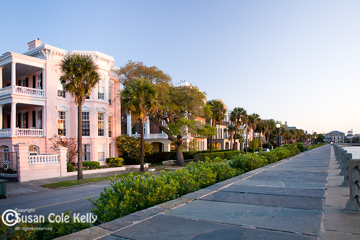 Sunrise, The Battery district,  Charleston, SC