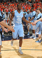 North Carolina Tar Heels forward Harrison Barnes (40) during the game against Virginia in Charlottesville, Va. North Carolina defeated Virginia 54-51.
