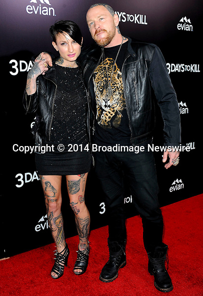 Pictured: Jason Ellis, girlfriend Katie<br /> Mandatory Credit &copy; Adhemar Sburlati/Broadimage<br /> Film Premiere of 3 Days to Kill<br /> <br /> 2/12/14, Los Angeles, California, United States of America<br /> <br /> Broadimage Newswire<br /> Los Angeles 1+  (310) 301-1027<br /> New York      1+  (646) 827-9134<br /> sales@broadimage.com<br /> http://www.broadimage.com