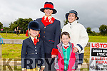 l-r Amelia O'Halloran, Emer O'Halloran,Jack Alan Duggan and Ber Duggan. at the KERRY PONY SOCIETY  36th Year Annual Show & Gymkhana At Blennerville, By kind permission of the Hurley Family
