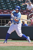 Omaha Storm Chasers Travis Snider (22) swings during the Pacific Coast League game against the Nashville Sounds at Werner Park on June 5, 2016 in Omaha, Nebraska.  Omaha won 6-4.  (Dennis Hubbard/Four Seam Images)