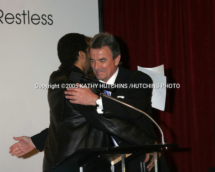 ©2005 KATHY HUTCHINS /HUTCHINS PHOTO.ERIC BRAEDEN CELEBRATES 25 YEARS AS ERIC BRAEDEN ON THE YOUNG AND THE RESTLESS.LOS ANGELES, CA.JANUARY 31, 2005..KRISTOFF ST JOHN.ERIC BRAEDEN