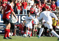 Darlington Naqbe #6 of the University of Akron during the 2010 College Cup final against the University of Louisville at Harder Stadium, on December 12 2010, in Santa Barbara, California. Akron champions, 1-0.