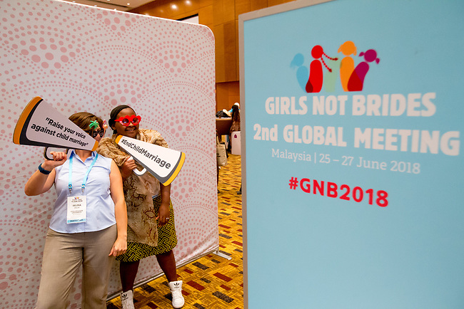 26 June, 2018, Kuala Lumpur, Malaysia : Participants enjoying the photo booth during the second day at the Girls Not Brides Global Meeting 2018 at the Kuala Lumpur Convention Centre. Picture by Graham Crouch/Girls Not Brides