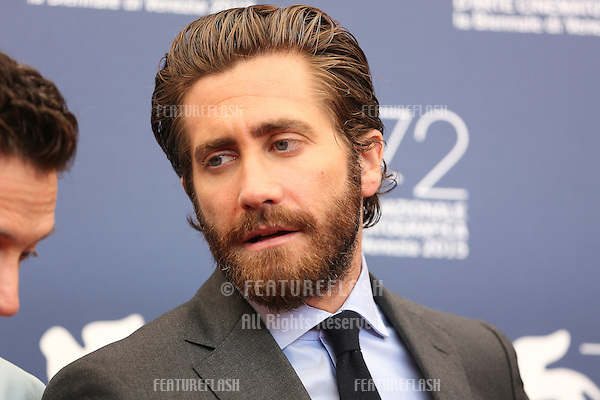Jake Gyllenhaal at the photocall for Everest at the 2015 Venice Film Festival.<br /> September 02, 2015  Venice, Italy<br /> Picture: Kristina Afanasyeva / Featureflash