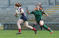 Saturday 20th April 2019 | 2019 Ulster Women's Junior Cup Final<br /> <br /> Ella Durkan during the Ulster Women's Junior Cup final between Malone and City Of Derry at Kingspan Stadium, Ravenhill Park, Belfast. Northern Ireland. Photo John Dickson/Dicksondigital