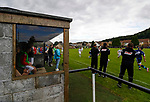 Burntisland Shipyard 0 Colville Park 7, 12/08/2017. The Recreation Ground, Scottish Cup First Preliminary Round. The view from the Burntisland technical area. Photo by Paul Thompson.