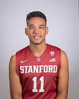 Stanford, Ca - September 21, 2016: The Stanford Cardinal Men's Basketball Team