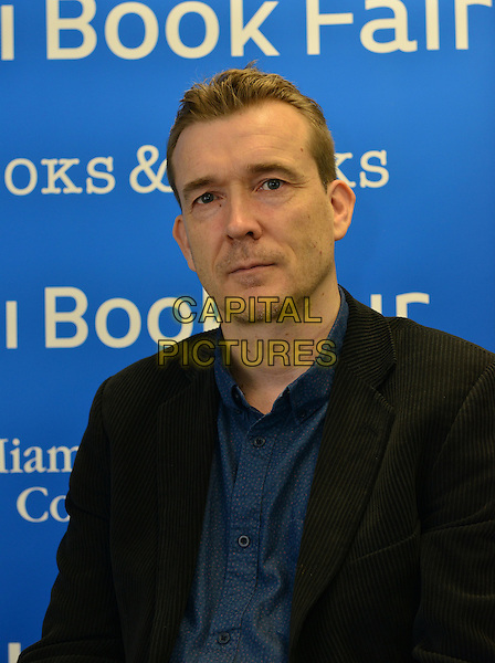 MIAMI, FL - NOVEMBER 05: Author David Mitchell discusses and signs copies of his book 'Slade House' at Miami Dade College Wolfson Auditorium presented in collaboration with The Center for Literature &amp; Writing on November 5, 2015 in Miami, Florida. <br /> CAP/MPI10<br /> &copy;MPI010/Capital Pictures