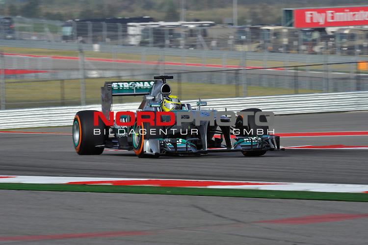15.-17.11.2013, Circuit of The Americas, Austin, USA, FIA, Formel 1, United States Grand Prix, Qualifikation, im Bild  Nico Rosberg (GER), Mercedes GP <br />  Foto &copy; nph / Mathis