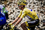 The peloton including Yellow Jersey Julian Alaphilippe (FRA) Deceuninck-Quick Step during Stage 16 of the 2019 Tour de France running 177km from Nimes to Nimes, France. 23rd July 2019.<br /> Picture: ASO/Pauline Ballet | Cyclefile<br /> All photos usage must carry mandatory copyright credit (© Cyclefile | ASO/Pauline Ballet)