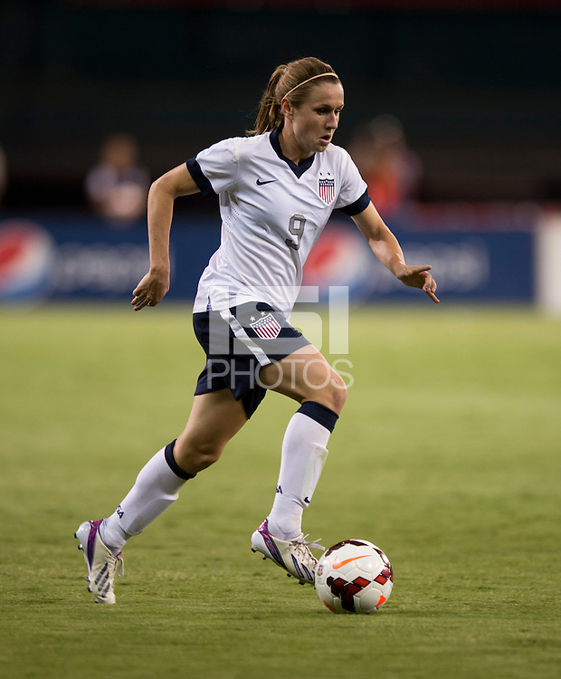 Heather O'Reilly. The USWNT defeated Mexico, 7-0, during an international friendly at RFK Stadium in Washington, DC.  The USWNT defeated Mexico, 7-0.