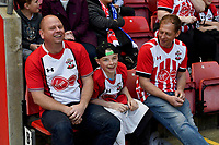 fans enjoy the pre-match atmosphere <br /> <br /> Photographer David Horton/CameraSport<br /> <br /> The Premier League - Southampton v Chelsea - Saturday 14th April2018 - St Mary's Stadium - Southampton<br /> <br /> World Copyright &copy; 2018 CameraSport. All rights reserved. 43 Linden Ave. Countesthorpe. Leicester. England. LE8 5PG - Tel: +44 (0) 116 277 4147 - admin@camerasport.com - www.camerasport.com