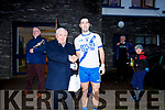 Bryan Sheehan being presented with 'Man of the Match' by Paddy Fogarty at the South Kerry Final on Saturday.