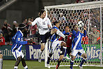 19 November 2008: Sacha Kljestan (Chivas USA)(16) of the USA gets a foot on a loose ball in the box.  The United States Men's National Team defeated the visiting Guatemala Men's National Team 2-0 at Dick's Sporting Goods Park in Commerce City, Colorado in a CONCACAF semifinal round FIFA 2010 South Africa World Cup Qualifier.