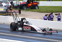 May 21, 2016; Topeka, KS, USA; NHRA top fuel driver Steve Torrence during qualifying for the Kansas Nationals at Heartland Park Topeka. Mandatory Credit: Mark J. Rebilas-USA TODAY Sports