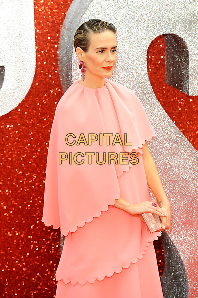 LONDON, ENGLAND - JUNE 13: Sarah Paulson attending 'Ocean's 8' UK Premiere at Cineworld, Leicester Square on June 13, 2018 in London, England.<br /> CAP/MAR<br /> &copy;MAR/Capital Pictures