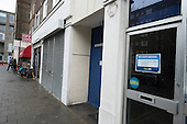 Closed shops on the New Era Estate.  The estate in Hoxton, London, has been taken over by US property company Westbrook Partners.