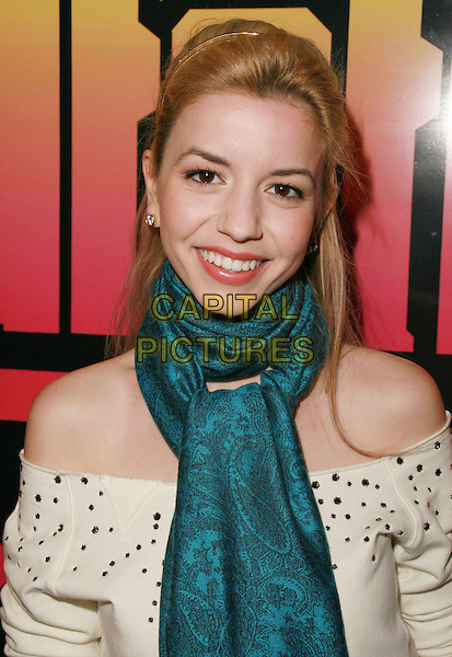 MASIELA LUSHA.Ed Hardy Grand Re-Opening of the Melrose Store, Hollywood, California, USA..October 20th, 2006.Ref: ADM/CH.headshot portrait scarf blue.www.capitalpictures.com.sales@capitalpictures.com.©Charles Harris/AdMedia/Capital Pictures.
