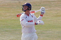 Simon Harmer of Essex watches the ball travel high into the air before being caught during Essex CCC vs Surrey CCC, Bob Willis Trophy Cricket at The Cloudfm County Ground on 9th August 2020