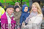 Betty, Dylan, Ryan and Marian Walsh Castleisland admiring the horses at the Castleisland Horse Fair on Monday