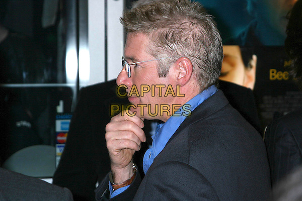 "RICHARD GERE.""Bee Season"" New York Premiere, IFC Theater,  New York City..November 1st, 2005.Ref: IW.headshot portrait glasses profile hand to chin.www.capitalpictures.com.sales@capitalpictures.com.©Capital Pictures"