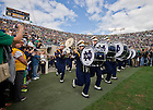 Sept. 21, 2013; The Notre Dame Marching Band enters the stadium.<br /> <br /> Photo by Matt Cashore
