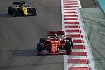 03.12.2019, Yas Marina Circuit, Abu Dhabi, Formel 1 Testfahrten Abu Dhabi 2019<br />, im Bild<br />Sebastian Vettel (GER#5), Scuderia Ferrari Mission Winnow, Esteban Ocon (FRA#31), Renault F1 Team<br /> <br /> Foto © nordphoto / Bratic
