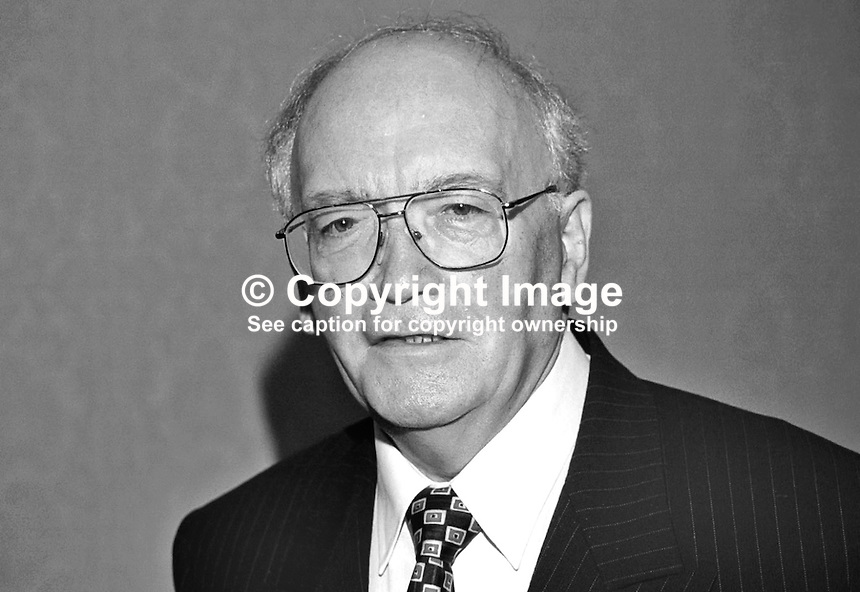Sam Foster, Ulster Unionist, MLA, N Ireland, UK, 199910326b.<br /> <br /> Copyright Image from Victor Patterson, 54 Dorchester Park, Belfast, UK, BT9 6RJ<br /> <br /> t: +44 28 90661296<br /> m: +44 7802 353836<br /> vm: +44 20 88167153<br /> e1: victorpatterson@me.com<br /> e2: victorpatterson@gmail.com<br /> <br /> For my Terms and Conditions of Use go to www.victorpatterson.com