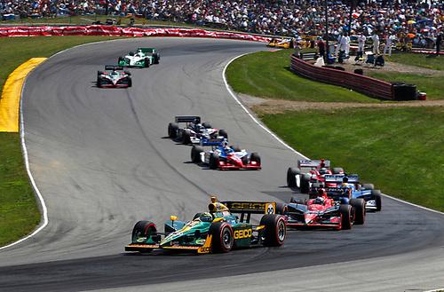 5-7 August, 2011, Lexington, Ohio USA<br /> Tony Kanaan leads Marco Andretti, Oriol Servia, Vitor Meira and Graham Rahal<br /> (c)2011, Phillip Abbott<br /> LAT Photo USA