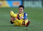 Arsenal's Alexis Sanchez hurts his foot<br /> <br /> Barclays Premier League - Crystal Palace  vs Arsenal  - Selhurst Park - England - 21st February 2015 - Picture David Klein/Sportimage
