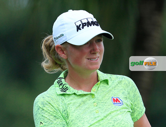 Stacy Lewis (USA) on the 2nd tee during Round 4 of the HSBC Women's Champions at the Sentosa Golf Club, The Serapong Course in Singapore on Sunday 8th March 2015.<br /> Picture:  Thos Caffrey / www.golffile.ie