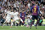 Real Madrid CF's Karim Benzema, Gareth Bale and FC Barcelona's Leo Messi and Gerard Pique during La Liga match. March 02,2019. (ALTERPHOTOS/Alconada)