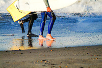 Male Surfers on the Beach in Orange County